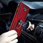 Microsonic Samsung Galaxy J7 Prime Kılıf Military Ring Holder Kırmızı Kırmızı